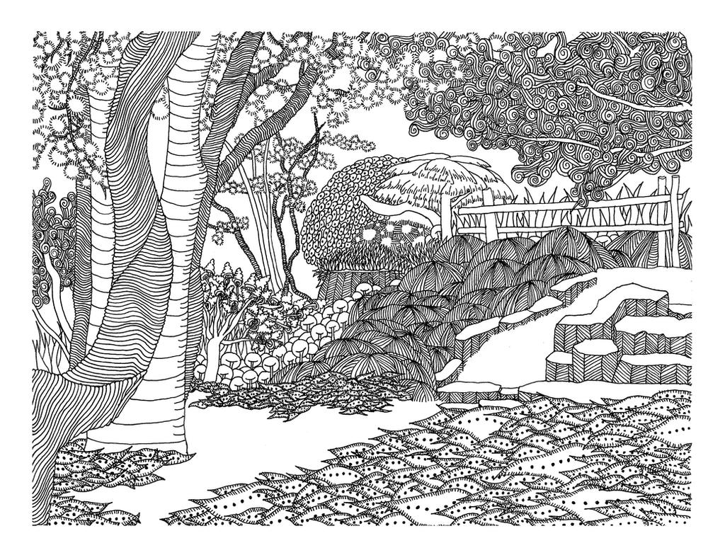 japanese garden coloring pages-#15