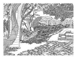 Japanese garden by vlacruz