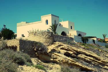 Sant Joan Alacant. House on the hill by vlacruz