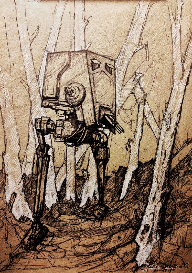 AT-ST quick sketch by JakubKrolikowskiART