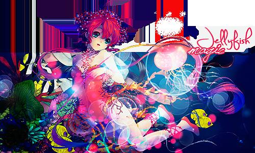 Magic jellyfish. EDIT. by HoldSmile
