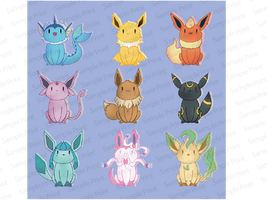 Eevees stickers