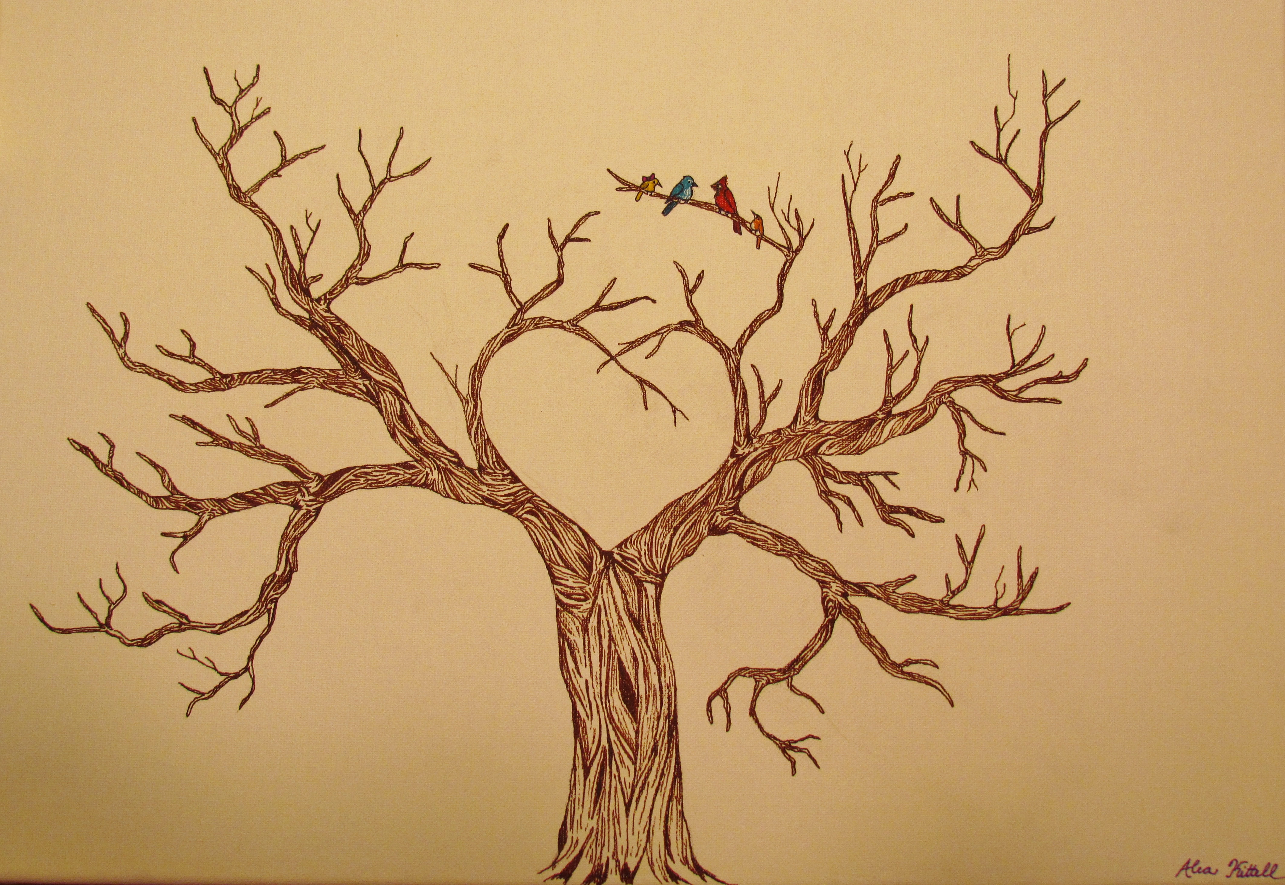 It is a picture of Influential Leafless Tree Drawing