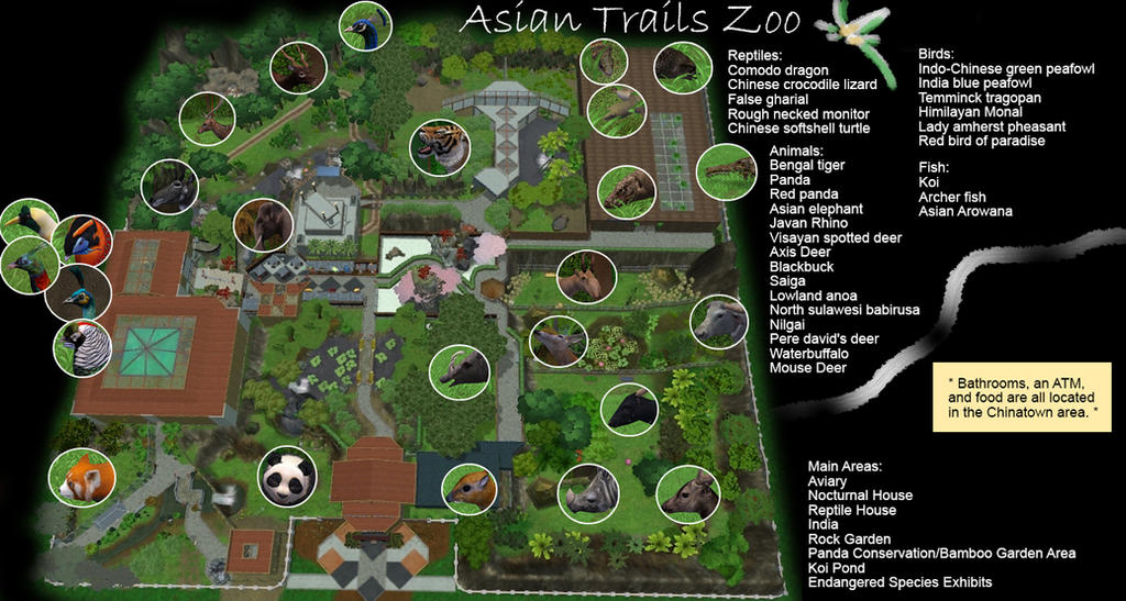 Asian Trails Zoo Map by MinxFox on DeviantArt