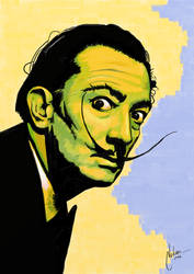 Salvador Dali Watercolor Pop Poster by mnetto