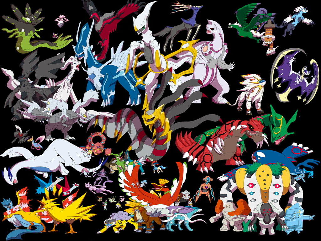 All Legendary Pokemon Fusion Images