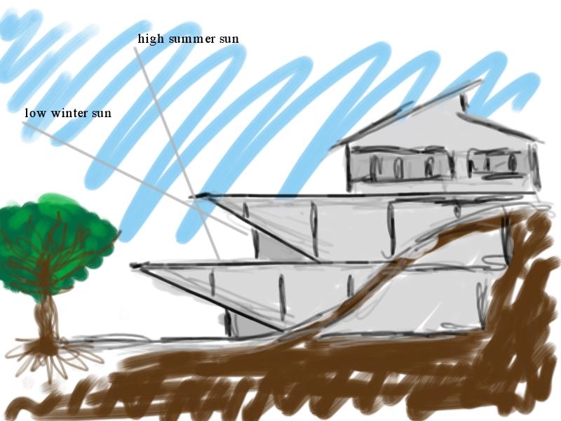 3 storey building sloped land by greythewanderer on for Building a house on a sloped lot