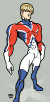 Captain Britain eXcalibre Hero by rcmarz