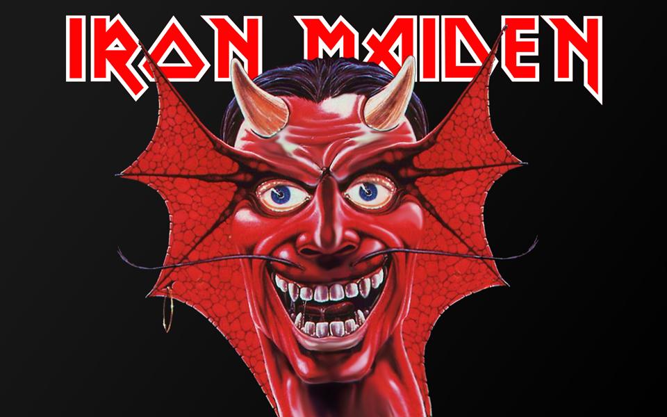 red monster logo wallpaper