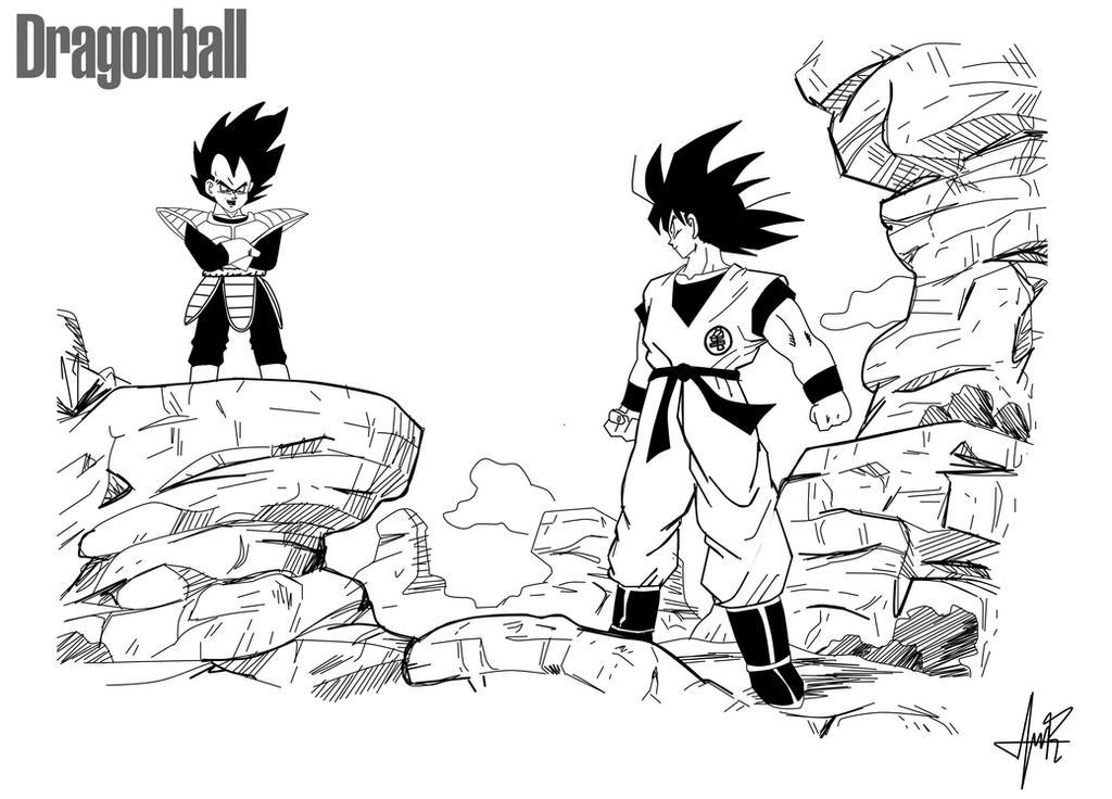 Favori Goku vs Vegeta - Dragon Ball Z Classic Manga Style by  II42