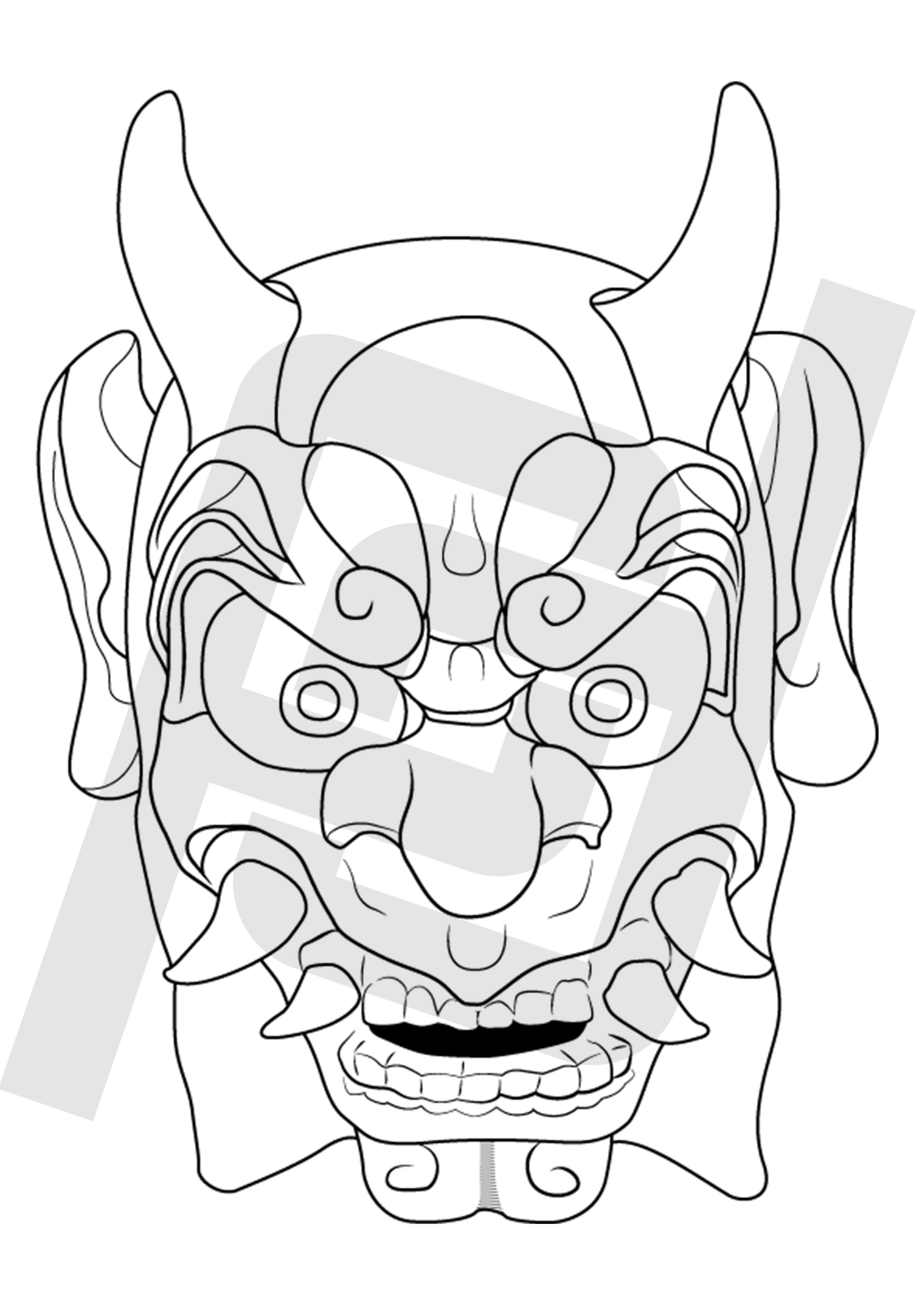 oni mask vector by pulpetmaster on deviantart