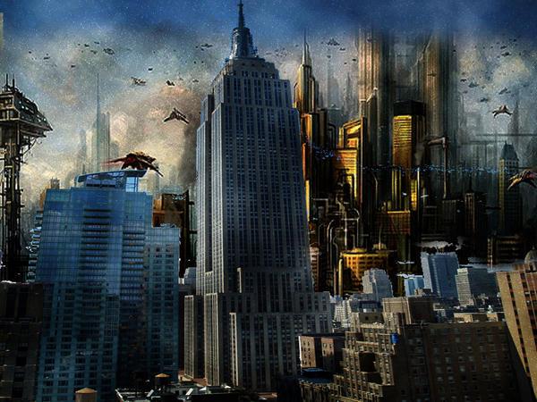 Futuristic City by JimG182