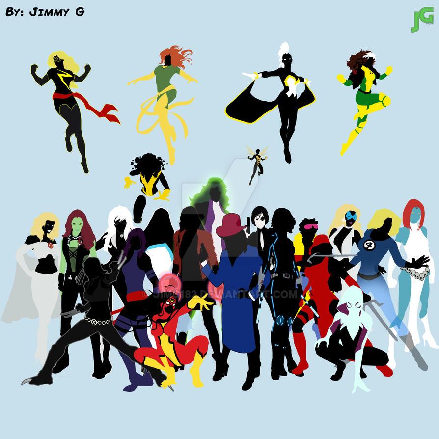 Women Of Marvel by JimG182