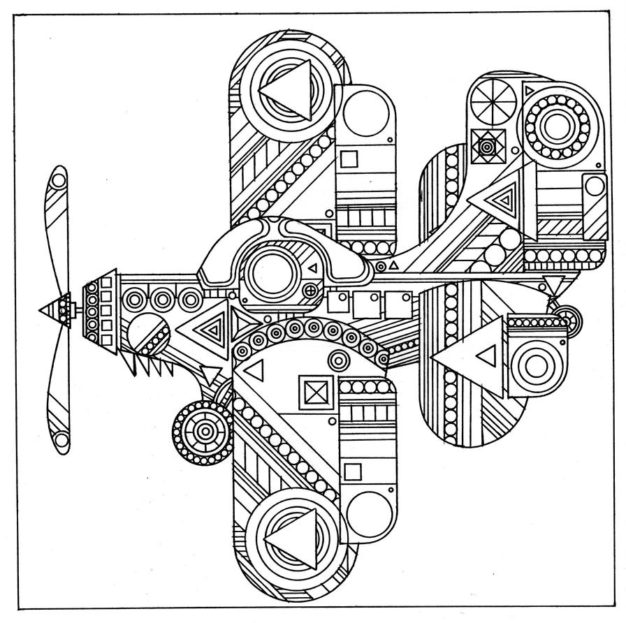airplane  helicopter  u0026 hot air balloon adult coloring pages