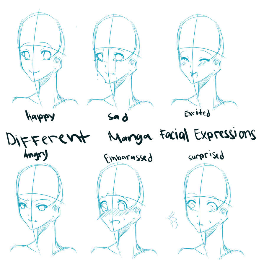 how to draw manga facial expressions