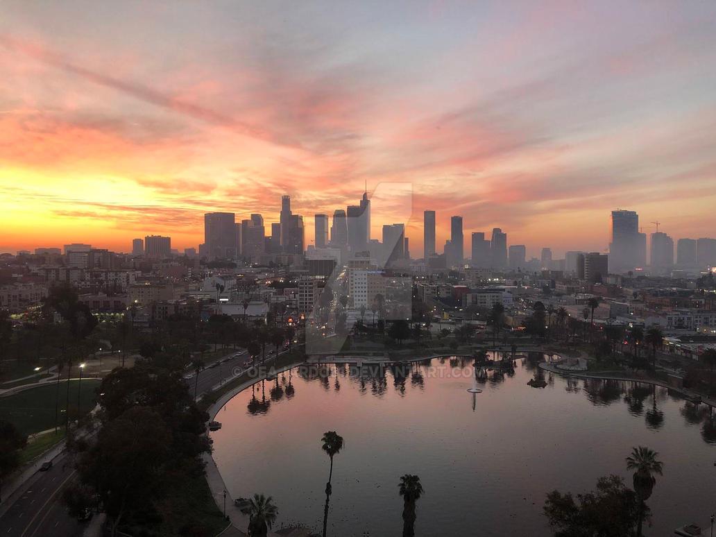 skyline sunrise by ofajardo81