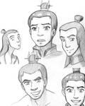 Roku and Sozin sketches
