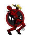 Deadpool, professional saxophone player.