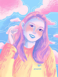 Girl Portrait in Candy Color
