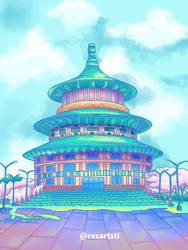 Pagoda in Unicorn Color Palette