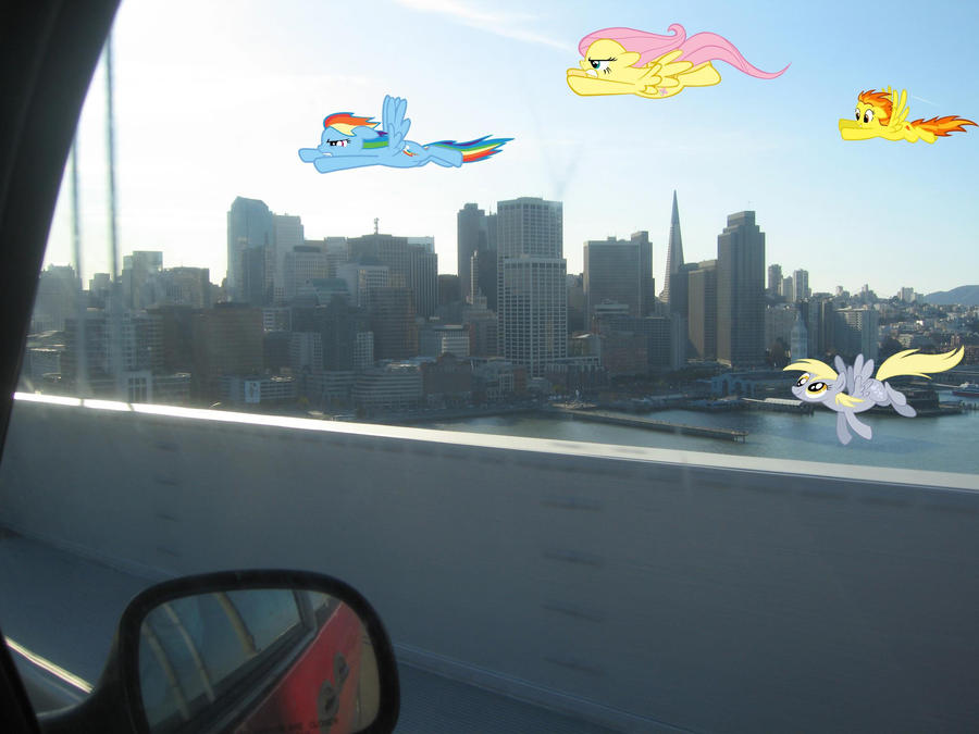 Ponies arrive in San Francisco by xXSilentStarXx