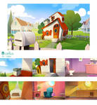 animated serie backgrounds