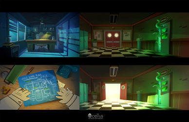 backgrounds for Cheating Tom 3 - Gameplay Trailer by Inkola