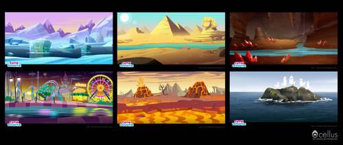 backgrounds by Inkola