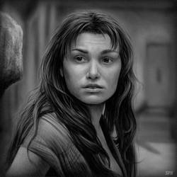 Samantha Barks - Eponine / Les Miserables /  B/N by ALONESPINOXA