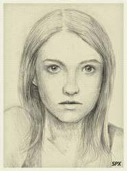 Fatima Retrato by ALONESPINOXA
