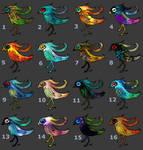 [OPEN 16/16] Cheap big eyed birds 5pt by Revenade