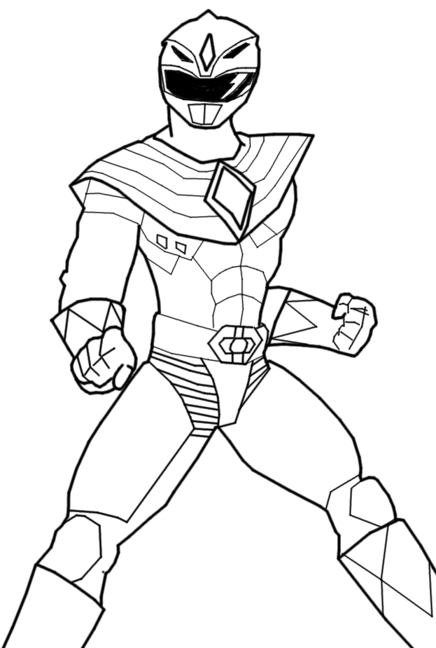power rangers coloring pages - green power ranger free coloring pages