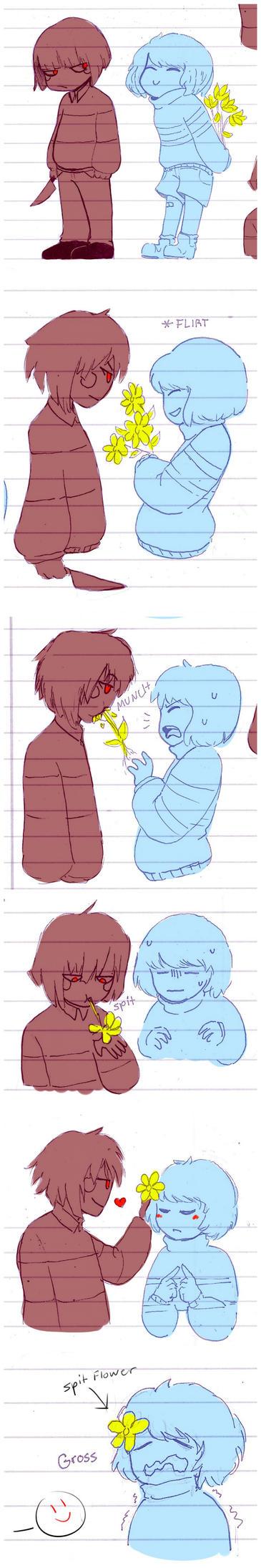 babies attempt to flirt (and fail) by BamSaraKilledYou