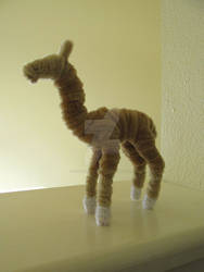 Pipe Cleaner Llama by xX-Wolvenhyde-Xx