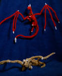 Fotia and Choma Inspired Pipecleaner Dragons by xX-Wolvenhyde-Xx