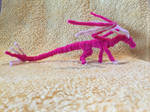 Advanced Light and Bright Pink Pipecleaner Dragon by xX-Wolvenhyde-Xx