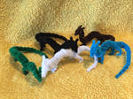 Herd of Mini Pipecleaner Dragons by xX-Wolvenhyde-Xx