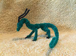Multicolor Green and Black Pipecleaner Dragon by xX-Wolvenhyde-Xx