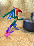 Advanced Rainbow Pipecleaner Dragon by xX-Wolvenhyde-Xx
