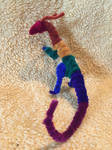 Multicolor Dark Rainbow Pipecleaner Dragon by xX-Wolvenhyde-Xx