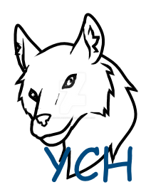 Wolf Head YCH (20 Points!) by IsellaHowler