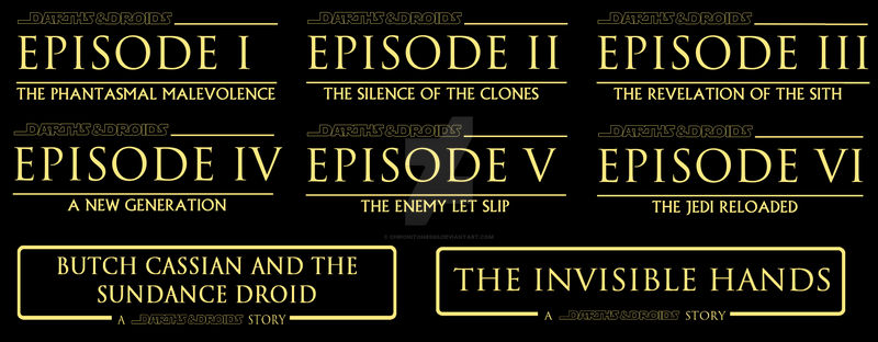 Darth and Droids Episode and Anthology titles