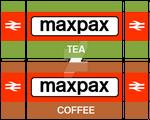 British Rail Maxpax cup labels