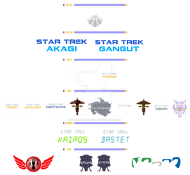 ELH MK1 Star Trek Alternate title logos