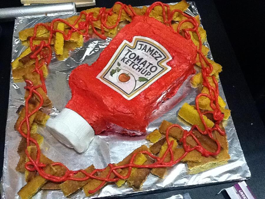 Ketchup Cake by cakesbyrachel