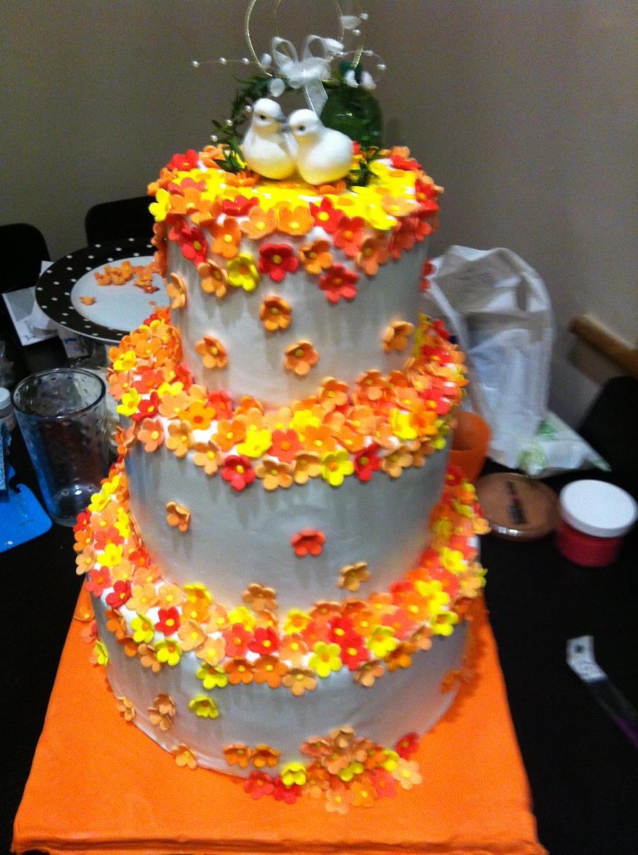 Rachel Bailey Cake Artist : First Wedding Cake by cakesbyrachel on DeviantArt