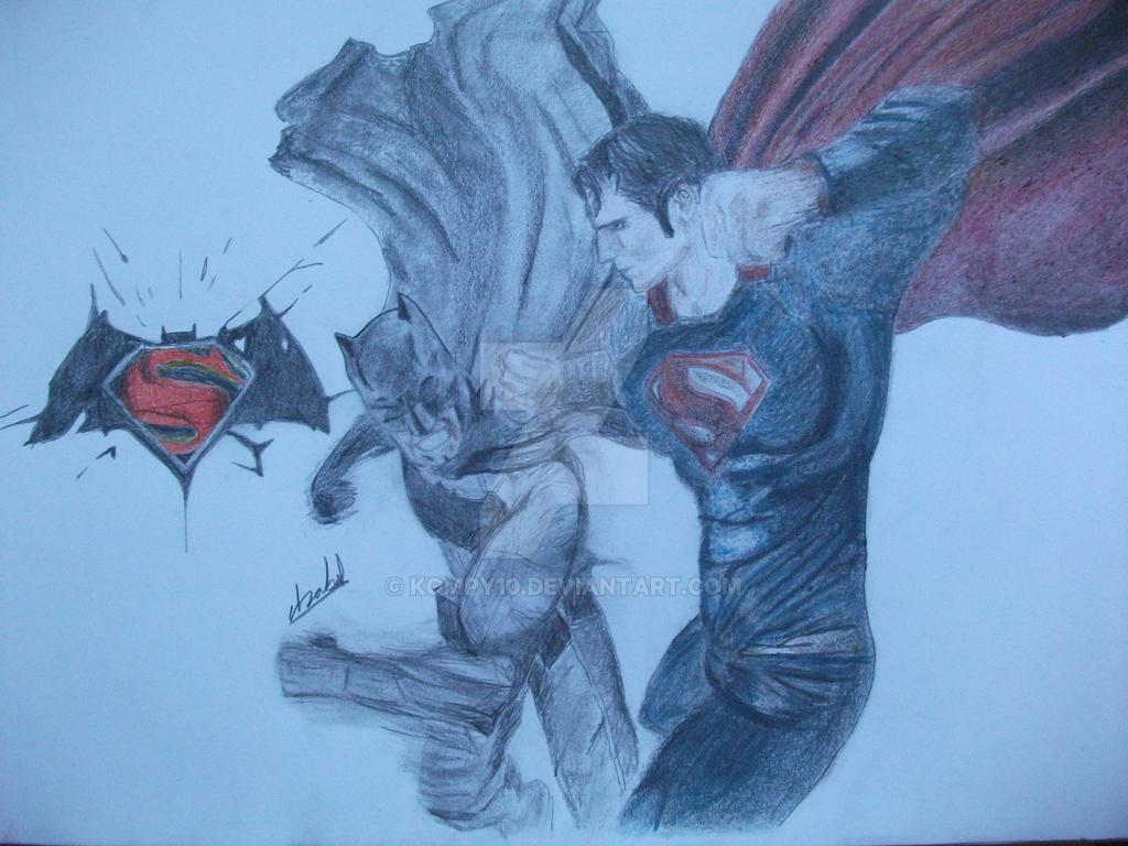 Superman vs Batman by Kompy10
