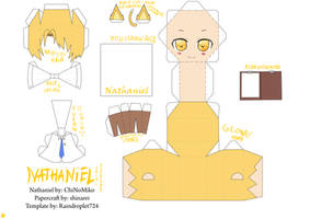 [Amour Sucre] Nathaniel Chibi Papercraft by Devvil-ShinaRei