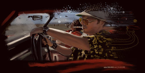 Day 80: This is bat country by YogJoshiArt