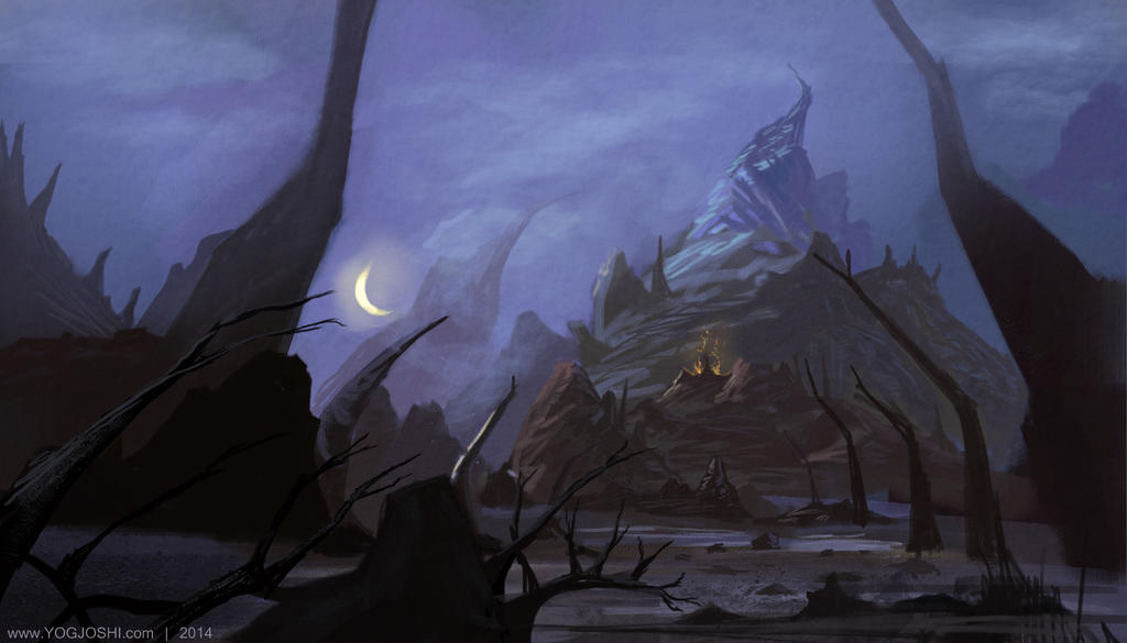 Night Mountain by YogFingers